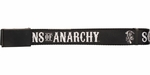 Sons of Anarchy White Title and Logo Black Mesh Belt