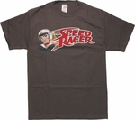 Speed Racer Wave Name Charcoal T Shirt