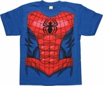 Spiderman Abs Costume Blue Youth T Shirt