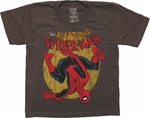 Spiderman Amazing Flip Gray Juvenile T Shirt