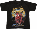 Spiderman Amazing Gold Spider Juvenile T Shirt
