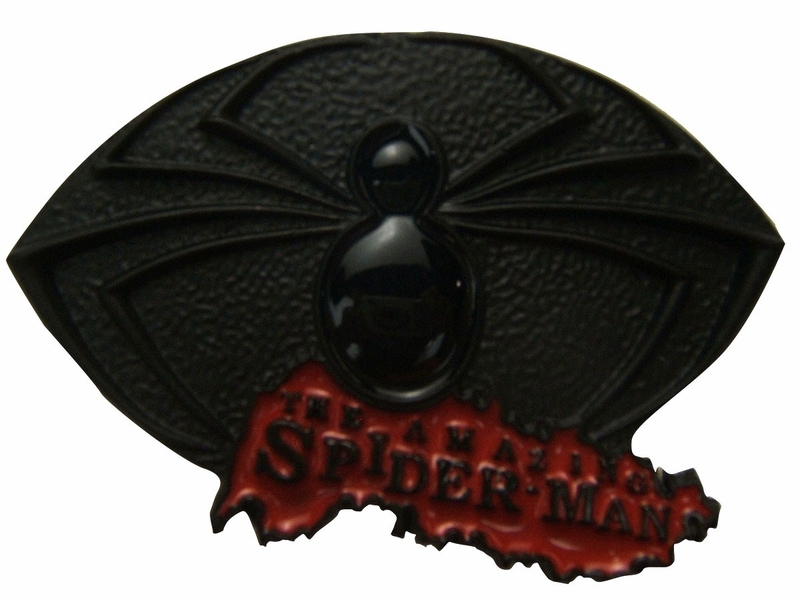 Spiderman Amazing Spider Black Belt Buckle