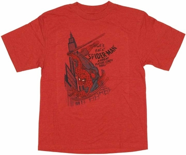 Spiderman Back Youth T Shirt