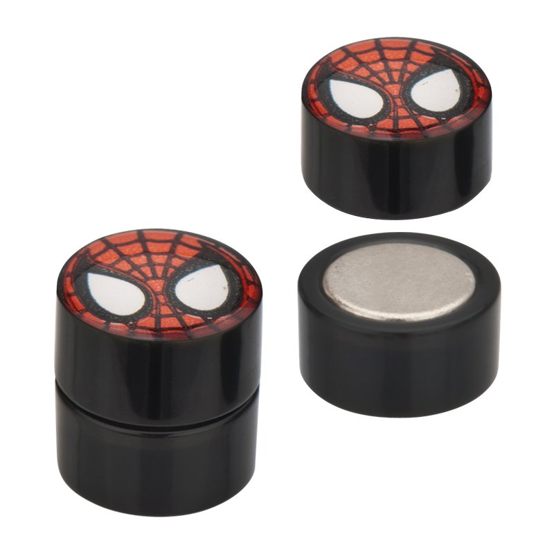 Spiderman Black Faux Plug Magnetic Earrings