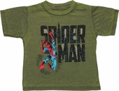 Spiderman City Name Swing Burnout Toddler T Shirt