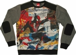 Spiderman Collage Sublimated Overlay Sweatshirt
