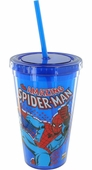 Spiderman Comic Swing Blue Travel Cup