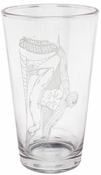 Spiderman Etched Pint Glass