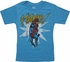 Spiderman Ftanng Blue Juvenile T Shirt
