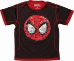 Spiderman Gemstone Face Mesh Youth T Shirt