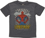 Spiderman Hands On Hips Juvenile T Shirt