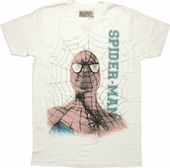 Spiderman Head Name Web T Shirt Sheer