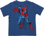 Spiderman Insert Head Blue Infant T Shirt