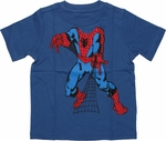 Spiderman Insert Head Blue Toddler T Shirt