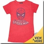 Spiderman Junk Food Girls Shirt