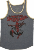 Spiderman Leap Ringer Tank Top