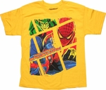 Spiderman Lizard Box Yellow Youth T Shirt