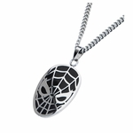 Spiderman Mask Stainless Steel Necklace