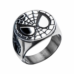 Spiderman Mask Steel Ring