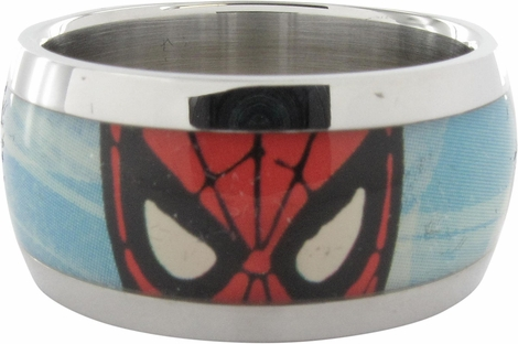 Spiderman Pose Mask Eyes Blue Ring
