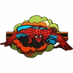 Spiderman Retro Clouds Patch