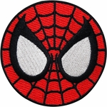 Spiderman Round Mask Patch