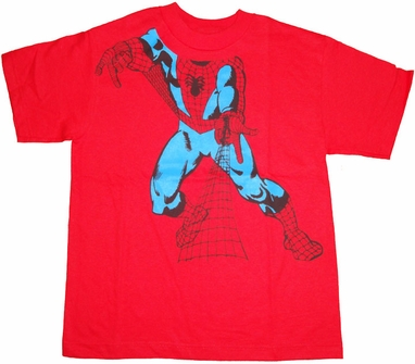 Spiderman Shoot Youth T Shirt
