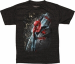 Spiderman Stick Side Juvenile T Shirt