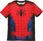 Spiderman Sublimated Costume T Shirt Sheer