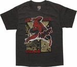 Spiderman Thwipp Heather Charcoal Youth T Shirt
