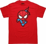 Spiderman Toy Web Swing Red T Shirt