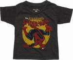 Spiderman Upside Down Swing Infant T Shirt