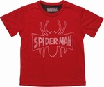 Spiderman Vintage Outline Logo Mesh Juvenile T Shirt