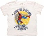 Spiderman Web Cool White Youth T Shirt