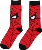 Spiderman Web Face Crew Socks