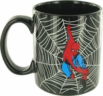 Spiderman Web Swing Black Jumbo Mug