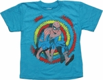 Spiderman Zig Zag Behind Blue Juvenile T Shirt