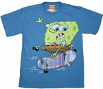 Sponge Bob Skateboard Youth T-Shirt