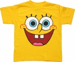 Spongebob Squarepants Face Juvenile T Shirt