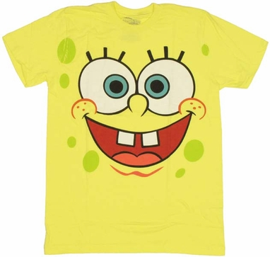 Spongebob Squarepants Face T Shirt Sheer