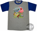 Spongebob Squarepants Kickball Gray Youth T-Shirt