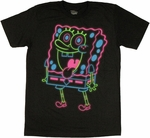 Spongebob Squarepants Neon T Shirt Sheer