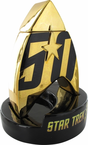 Star Trek 50th Anniversary Logo Lidded Ceramic Jar