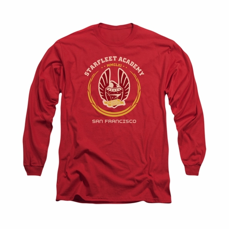 Star Trek Academy Heraldry Long Sleeve T Shirt