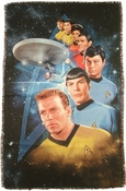 Star Trek Among Stars Sublimated Woven Throw Blanket