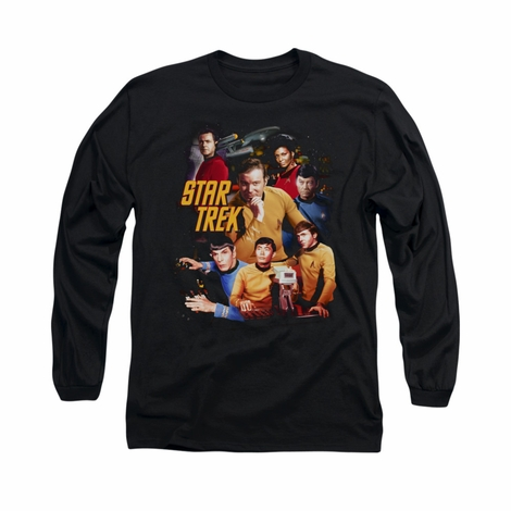 Star Trek At the Controls Long Sleeve T Shirt