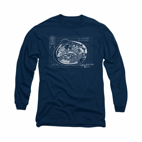 Star Trek Bridge Prints Long Sleeve T Shirt