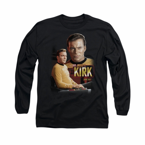 Star Trek Captain Kirk Long Sleeve T Shirt