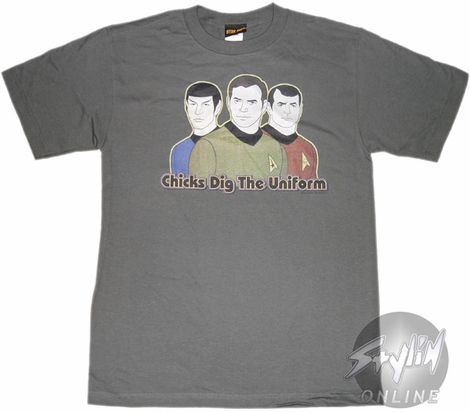 Star Trek Chicks Dig Uniform T-Shirt