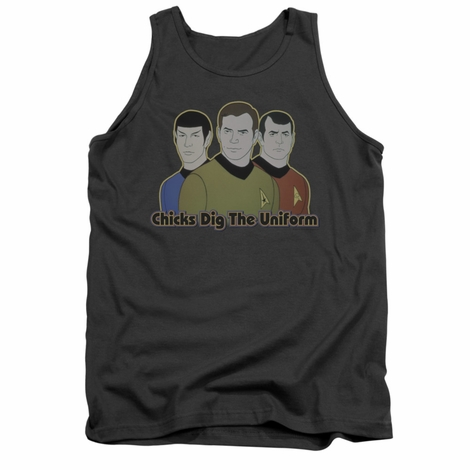 Star Trek Chicks Dig Uniform Tank Top